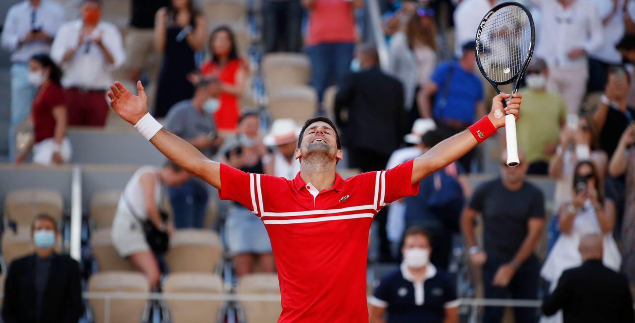 Novak Djokovic a régalé le public du court Philippe-Chatrier. [Gonzalo Fuentes - Reuters]