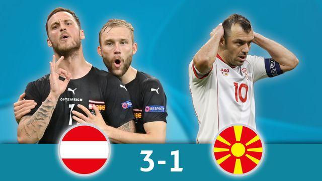 Autriche - Macédoine du Nord (3-1): les meilleurs instants de la victoire autrichienne