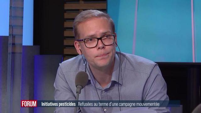 """Initiative anti-pesticides : la stratégie du """"2x non"""" a gagné [RTS]"""