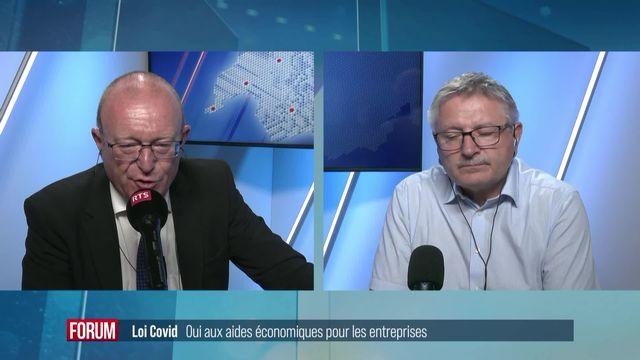 Loi Covid : oui aux aides économiques pour les entreprises [RTS]