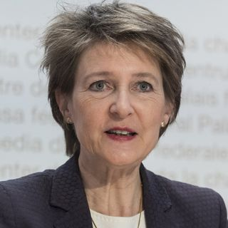 La conseillère fédérale en charge de l'Environnement, Simonetta Sommaruga. [Alessandro della Valle - Keystone]