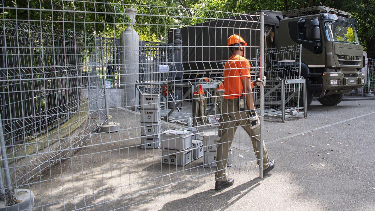 Zones fermées, circulation perturbée: Genève se barricade en vue du sommet Biden - Poutine [Martial Trezzini - Keystone]