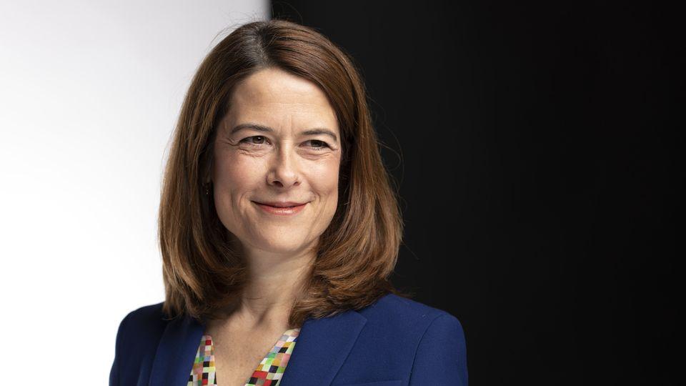 La présidente du PLR Petra Gössi photographiée le 4 décembre 2019 à Berne. [Gaëtan Bally - Keystone]