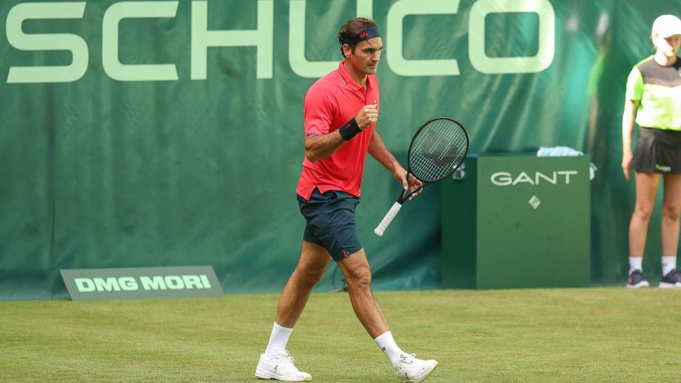 Roger Federer a signé le seul break du match. Sur le dernier jeu. [Friso Gentsch - Keystone]