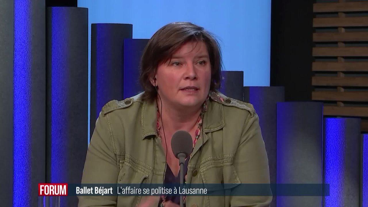 L'affaire du Ballet Béjart se politise à Lausanne : interview de Florence Bettschart-Narbel [RTS]