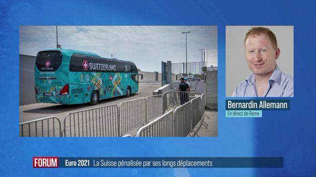 Euro 2021 : la Suisse pénalisée par ses longs déplacements [RTS]
