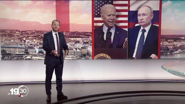 Sommet Biden-Poutine - désaccords multiples entre USA et  Russie: peu de progrès en vue analyse Tristan Dessert. [RTS]
