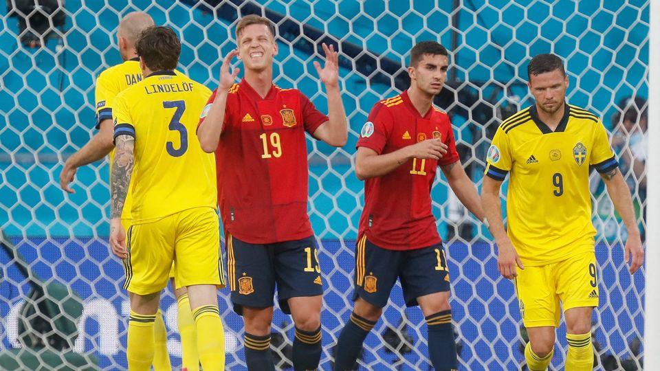 Olmo et Torres ne sont pas parvenus à faire bouger le score dans cette rencontre verrouillée par la Suède. [Jose Manuel Vidal - AFP]