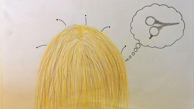 """""""Les cheveux"""", un dessin réalisé par Pauline. [Pauline]"""