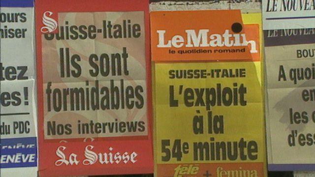 Réactions après la victoire de la Suisse sur l'Italie en 1993 [RTS]