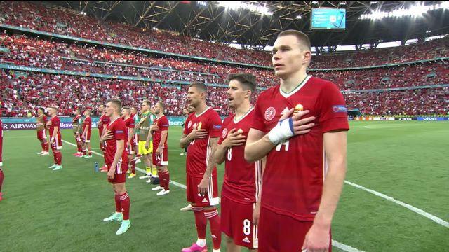 Image très forte du public hongrois après la rencontre [RTS]