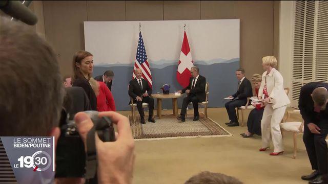 Rencontre au plus haut niveau entre la Suisse et les États-Unis à la veille du sommet entre Joe Biden et Vladimir Poutine. [RTS]