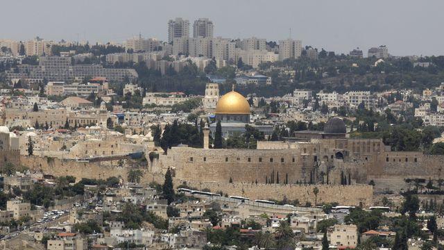 Une vue générale de la vieille ville de Jérusalem.  [EPA/Atef Safadi - Keystone]