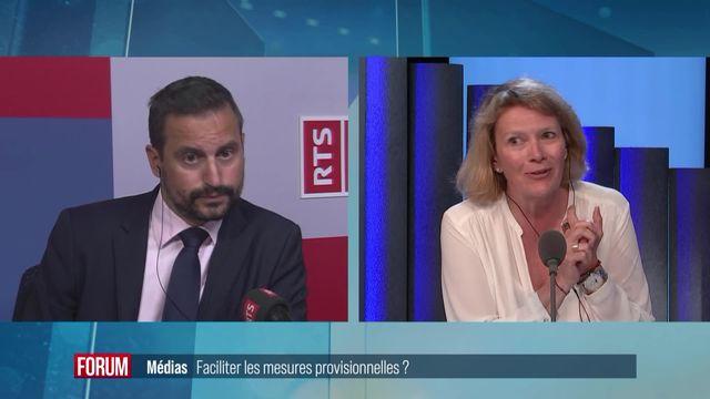 Médias en Suisse : faciliter les mesures provisionnelles ? [RTS]