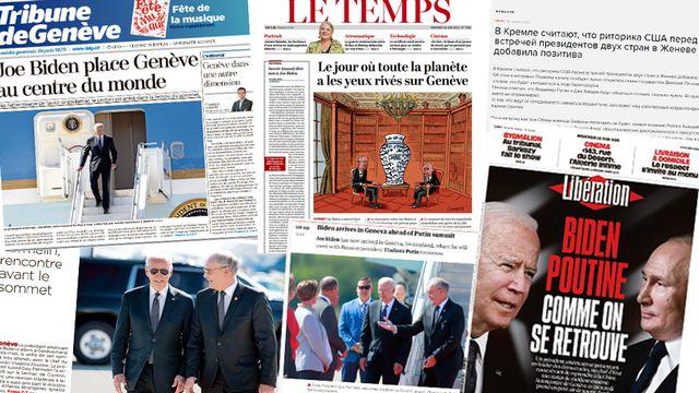 Genève, centre du monde pour tous les médias suisses et internationaux. [RTS]