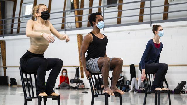 Alors que la crise du coronavirus touche à sa fin, l'équilibre du Béjart Ballet Lausanne n'a jamais été aussi précaire. [Jean-Christophe Bott - Keystone]
