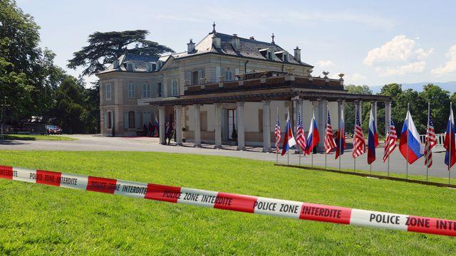 La Villa La Grange a vu le départ de ses hôtes Joe Biden et Vladimir Poutine peu après 17h. Genève, le 16 juin 2021. [Denis Balibouse - Keystone/Reuters Pool]