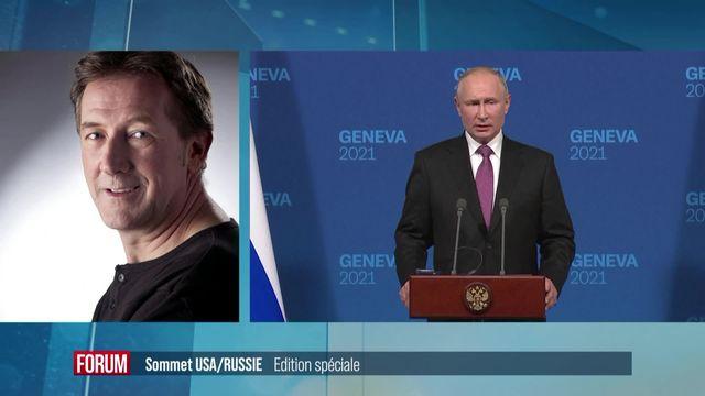 Le sommet entre Biden et Poutine a-t-il été utile ? Interview de François Heisbourg, Olga Baranova, Charles Adams et Isabelle Cornaz [RTS]