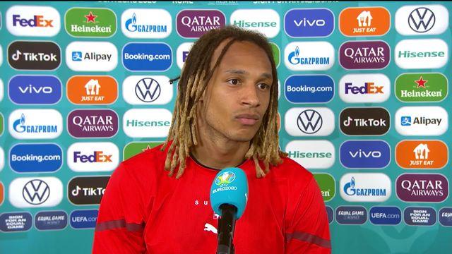 Italie - Suisse (3-0): Mbabu à l'interview après la défaite [RTS]