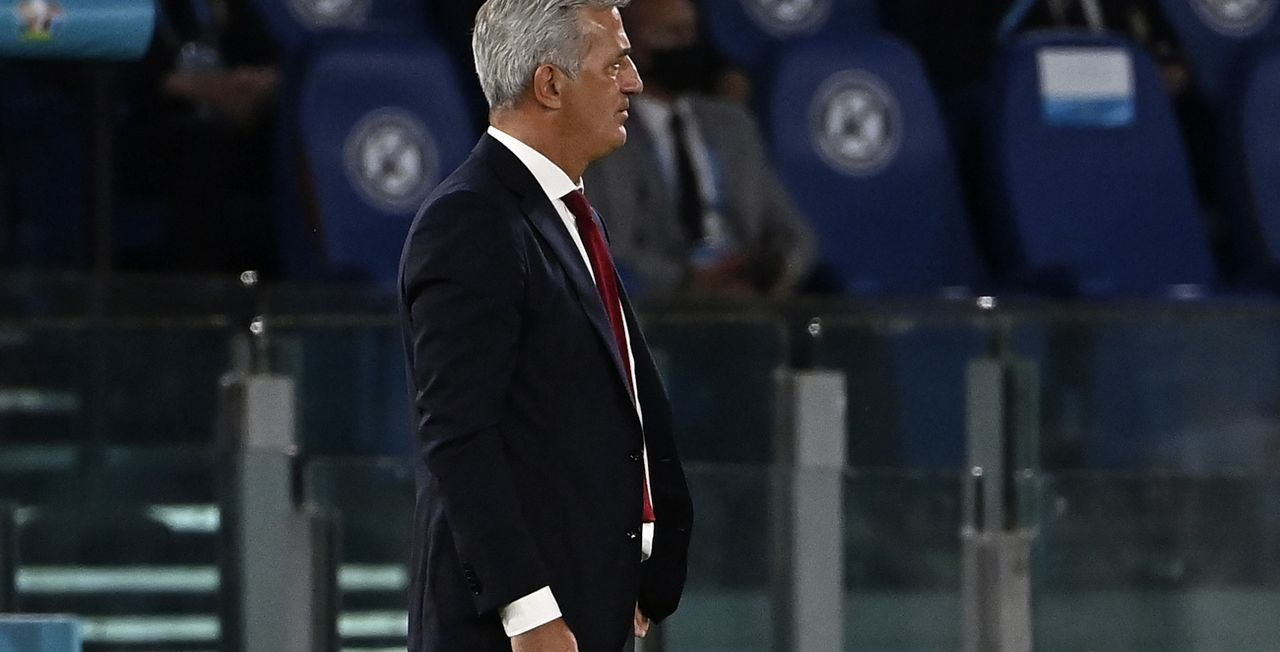 Vladimir Petkovic doit espérer une réaction de ses joueurs face à la Turquie. [Andreas Solaro - Keystone]