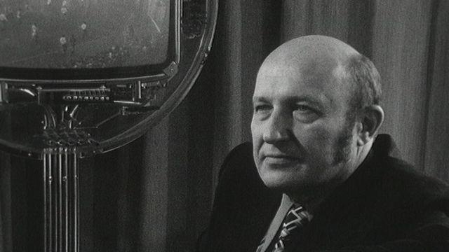 L'écrivain français Frédéric Dard en 1973. [RTS]