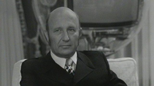 L'écrivain français Frédéric Dard en 1972. [RTS]