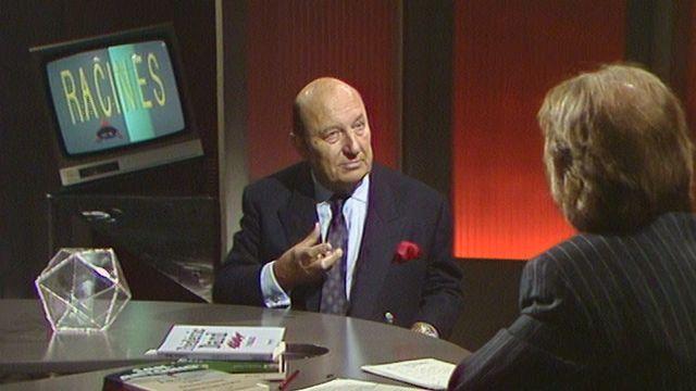 L'écrivain français Frédéric Dard en 1989. [RTS]