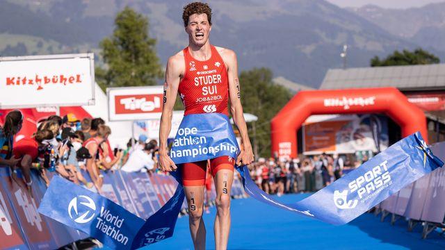 Max Studer est devenu champion d'Europe pour la 1re fois. [Johann Groder - Keystone]