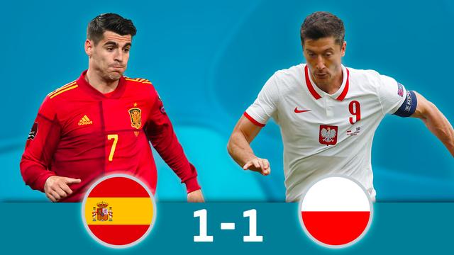 Espagne - Pologne (1-1)
