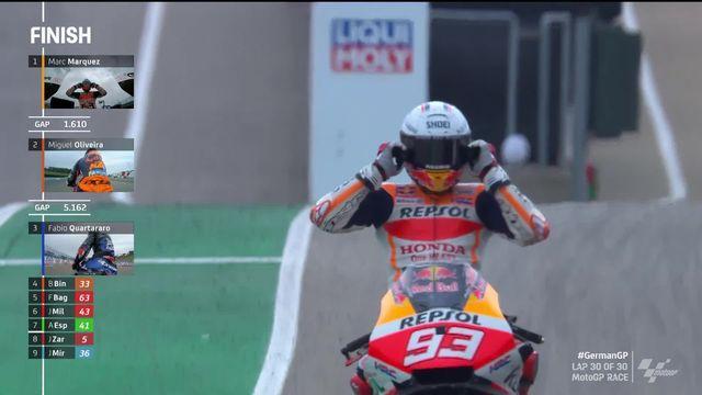 GP d'Allemagne (#7), MotoGP: Marc Marquez (ESP) renoue avec la victoire cette saison après sa double opération [RTS]