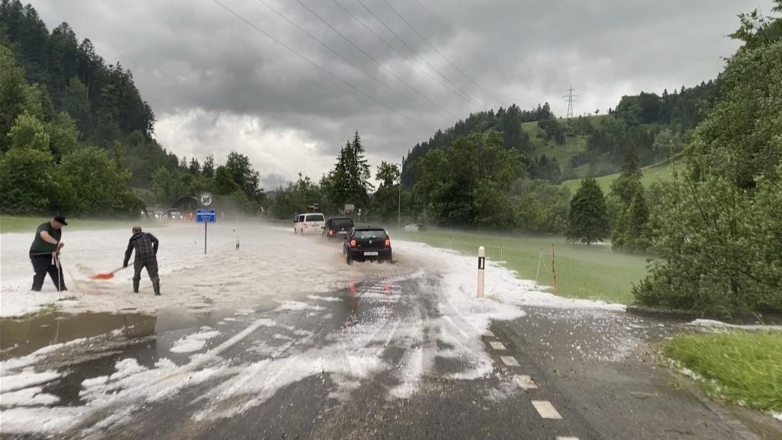 Forts orages sur le canton de Fribourg, accompagnés de grêle