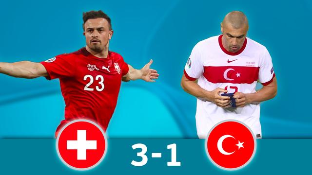 Suisse - Turquie (3-1): la Suisse s'impose mais termine 3e du groupe A