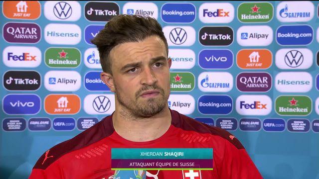Suisse - Turquie (3-1): interview de Shaqiri après la victoire helvétique [RTS]