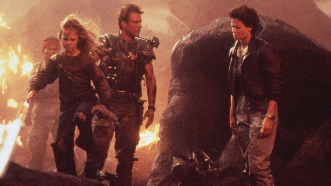 """Dans """"Alien"""", Sigourney Weaver tient un rôle important: son personnage possède un nom, interagit avec d'autres femmes et ne parle pas avec elles d'un homme. [RTS/FOX]"""