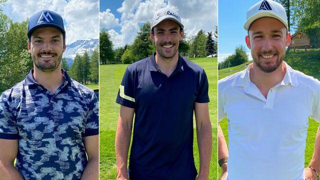 Meillard, Yule et Aerni ont disputé un tournoi de golf de charité. [F.Galaud - RTS]