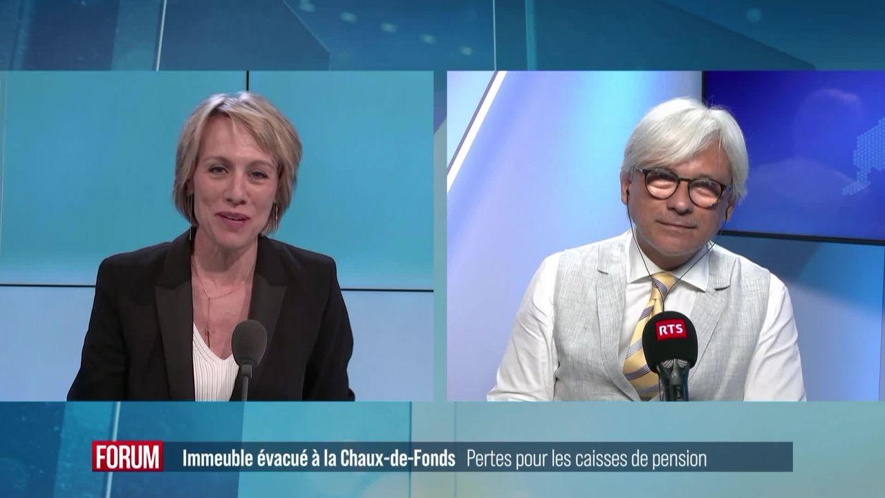 Les caisses de pension liées au scandale de l'immeuble évacué à La Chaux-de-Fonds [RTS]