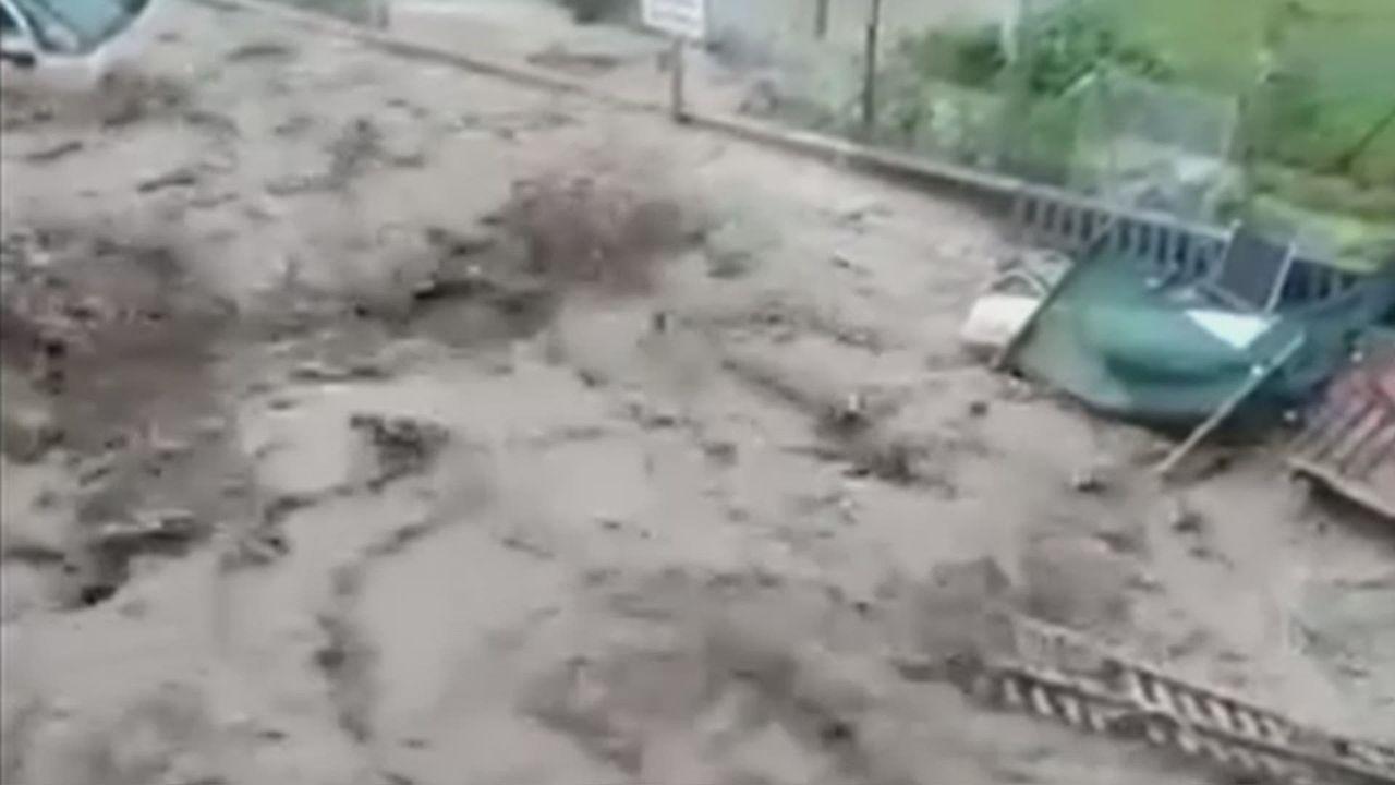 Vidéo des inondations à Cressier (NE) [RTS]