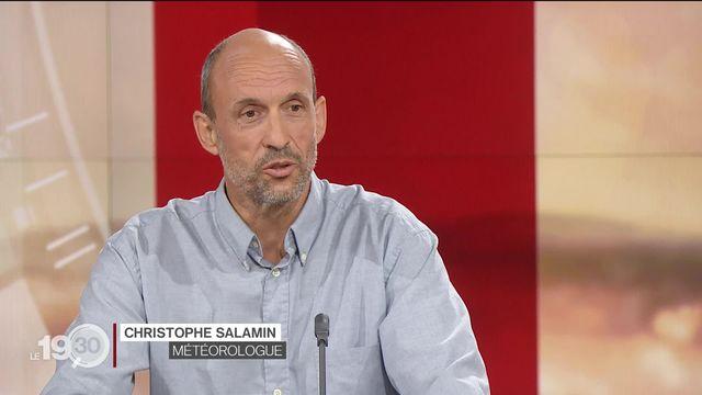 Le météorologue Christophe Salamin revient sur les violentes intempéries qui frappent la Suisse depuis quelques jours [RTS]