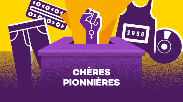 Logo Chères pionnières [RTS]