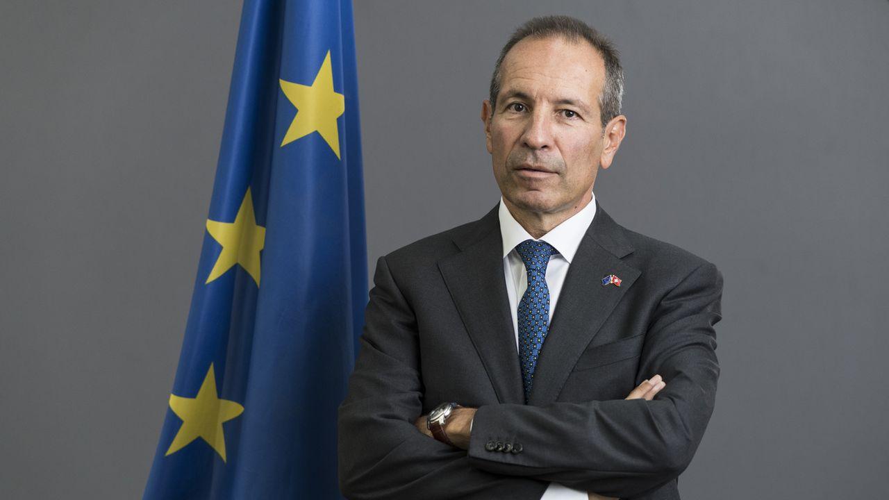 L'ambassadeur de l'Union européenne en Suisse Petros Mavromichalis. [Alessandro della Valle - Keystone]
