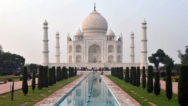 Le Taj Mahal à Agra. [Stringer - Anadolu Agency via AFP]