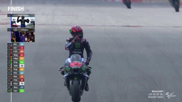 GP des Pays-Bas (#8), MotoGP: victoire de Quartararo (FRA) devant Vinales (ESP) 2e et Mir (ESP) 3e [RTS]