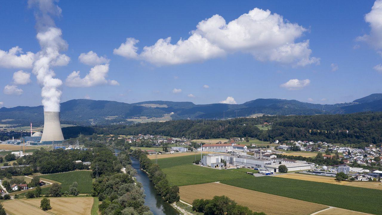 La centrale nucléaire de Gösgen, dans le canton de Soleure. [Gaetan Bally - Keystone]