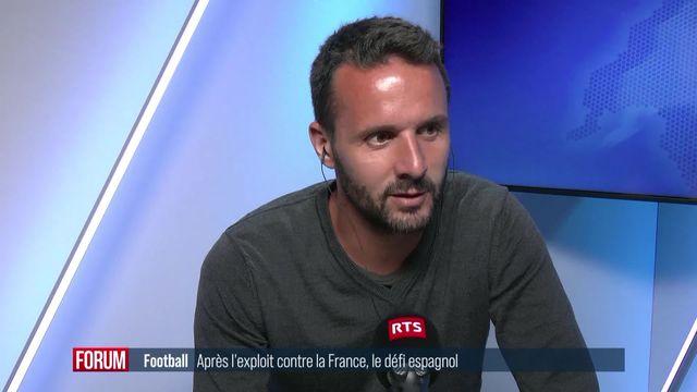 Football: après l'exploit contre la France, le défi espagnol: interview de Raphaël Nuzzolo [RTS]