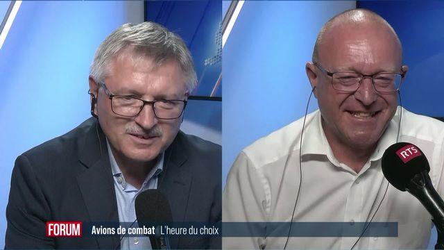 L'heure du choix pour les avions de combat: débat entre Charles Juillard et Jean-Luc Addor [RTS]