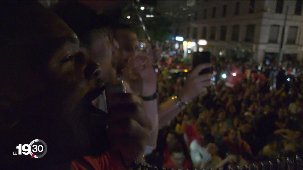 La Suisse a célébré cette nuit la victoire historique de son équipe face à la France en 8ème de finale de l'Euro [RTS]