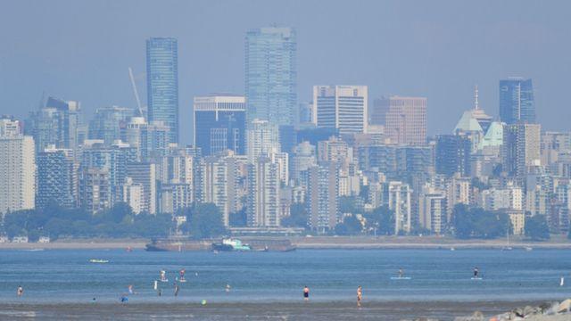La région de Vancouver est touchée par une vague de chaleur sans précédent. [Don MacKinnon - AFP]