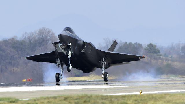 Un F-35A en Corée du Sud en mars 2019. [Keystone - South Korea Defense Acquisition Program Administration]