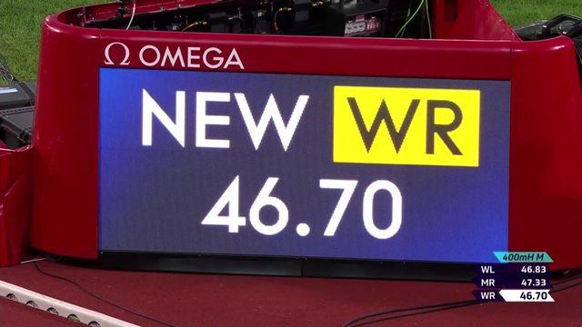 Olso (NOR), 400m haies messieurs: nouveau record du monde pour Warholm (NOR) ! [RTS]