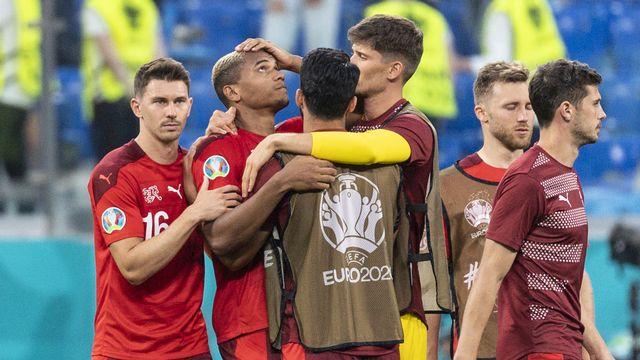 La Suisse sort la tête haute de cet Euro après un parcours et une rencontre riches en émotions. [Jean-Christophe Bott - Keystone]